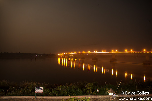 Kampong Cham waterfront at night