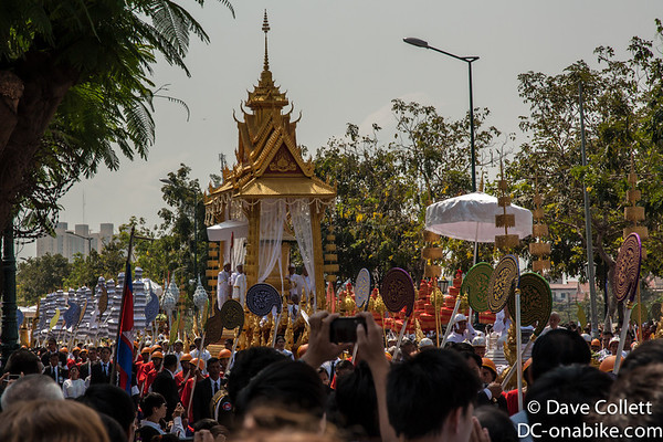 Cambodian Funeral Procession - coffin