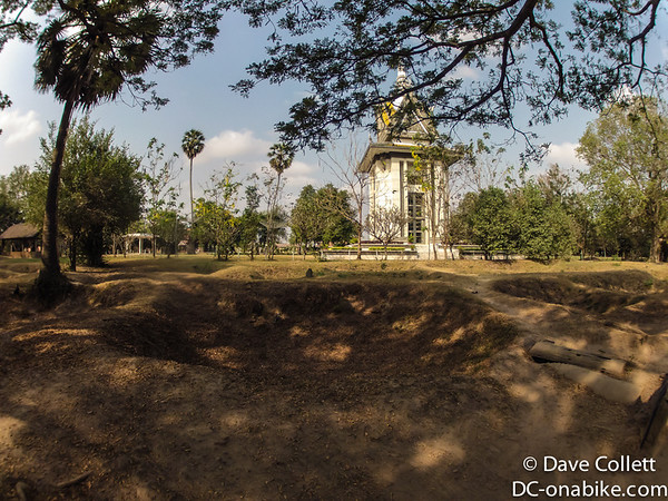 Mass graves and the memorial stupa