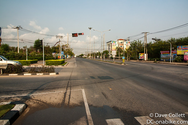 One of the roads heading into Bangkok